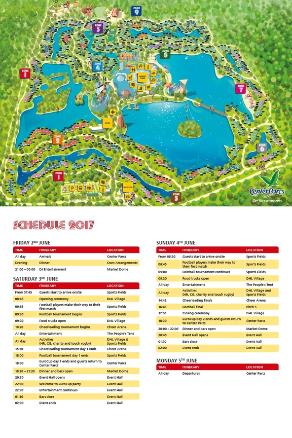 Map and Day Schedule