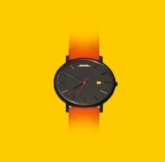 DHL Watch - Rubber Strap