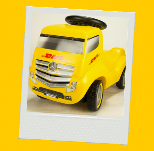 DHL Mercedes Actros Ride-on